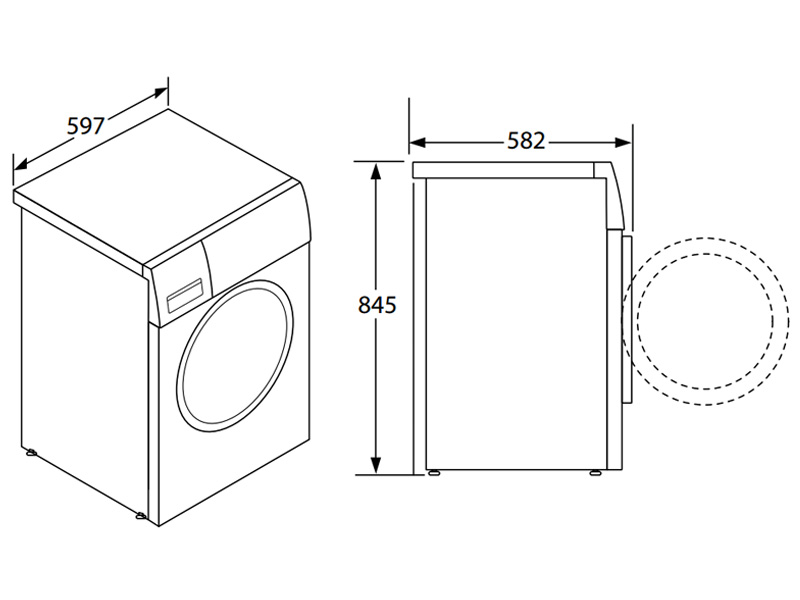 Máy giặt kết hợp sấy Hafele HWD-F60A 533.93.100