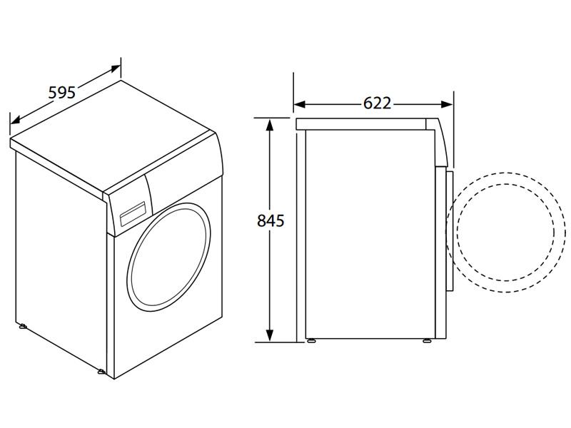 Máy sấy quần áo 9kg Hafele HD-F60A 538.91.520