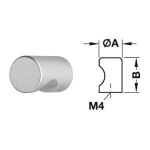 Tay nắm tròn Hafele Mạ màu bạc 15x22mm 135.93.902
