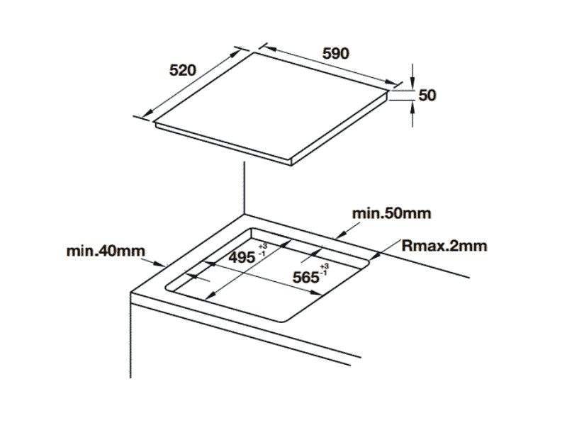 bản vẽ kỹ thuật bếp hafele HC-IF60A 536.01.871