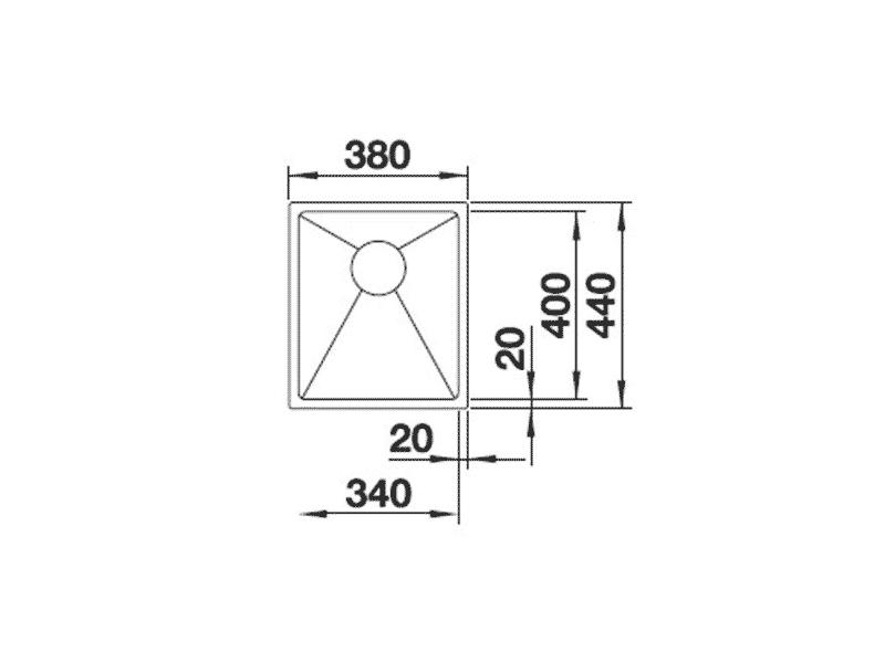 bản vẽ kỹ thuật chậu rửa chén hafele 570.27.149