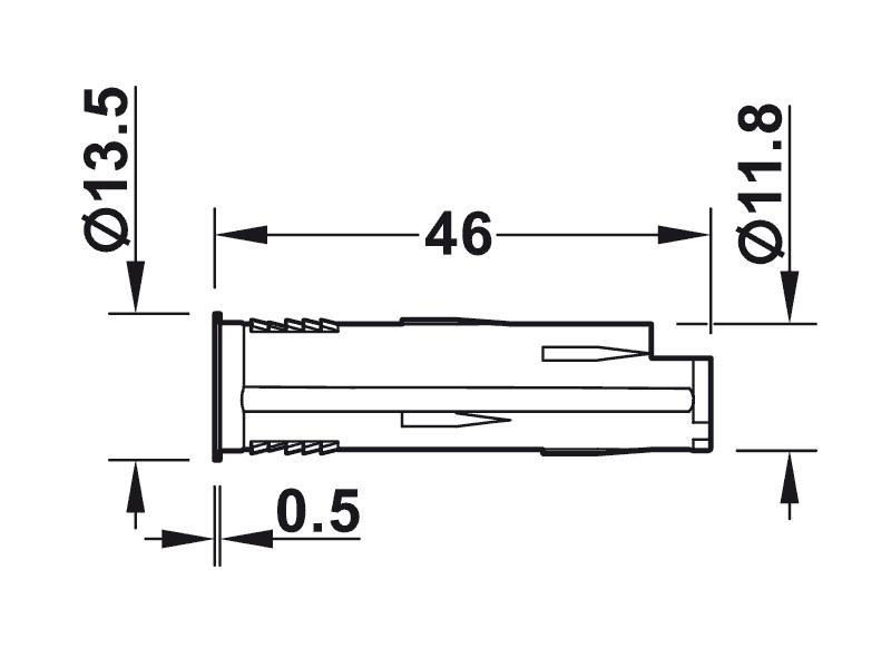 bản vẽ kỹ thuật công tắc hafele 833.89.128
