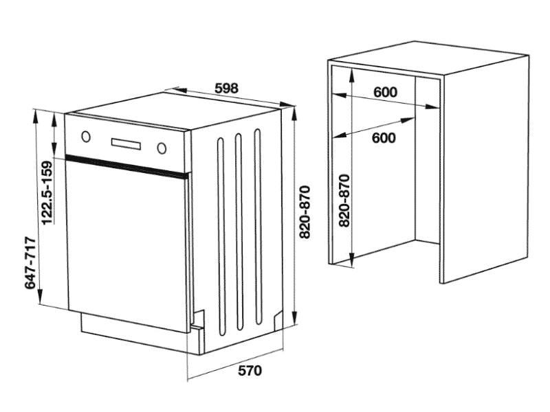 bản vẽ kỹ thuật máy rửa chén hafele 533.23.120