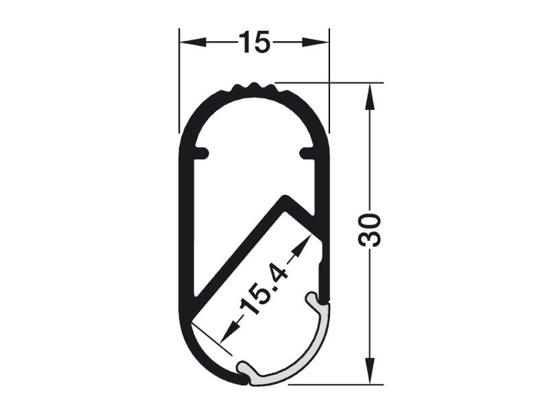 bản vẽ kỹ thuật thanh nhôm treo quần áo hafele