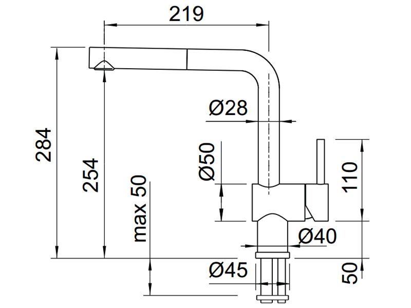 Vòi rửa chén Blanco Màu kim loại 565.68.950